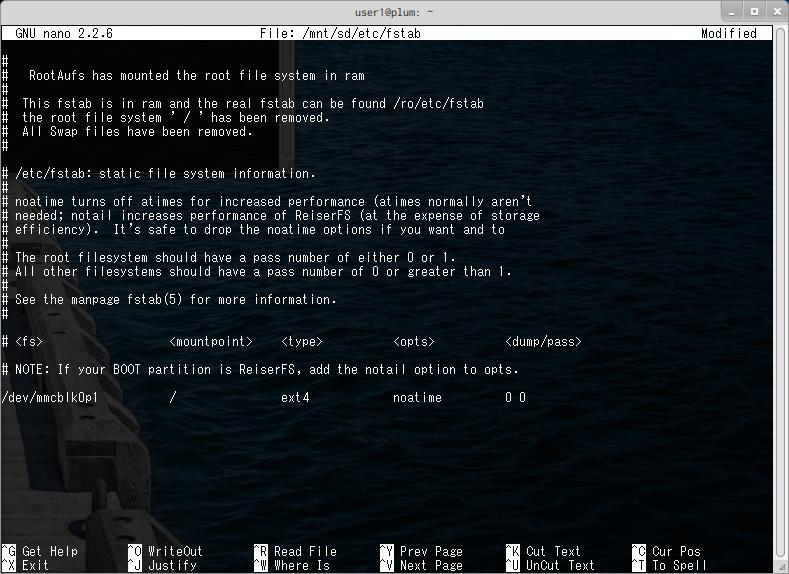 SDカードに root filesystem を作成する (Obsolete) [MA-E/XG/SA